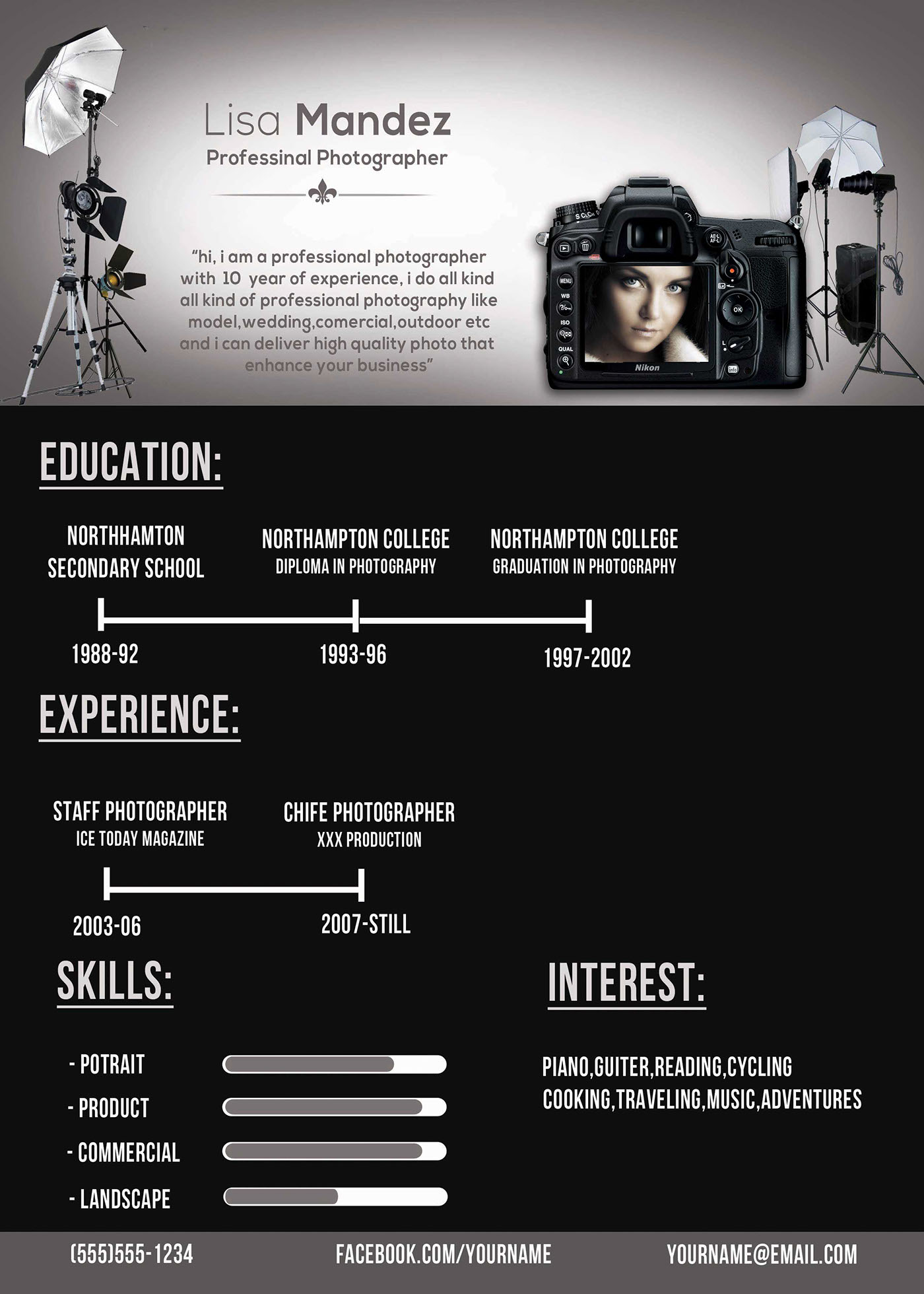 photographer resume on behance