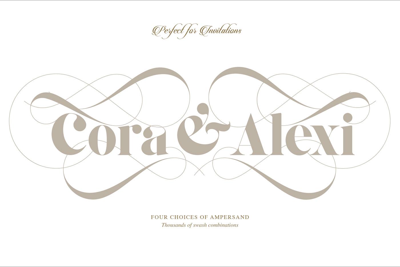 serif editorial wedding business card invit art deco elegant commercial webfont Free font