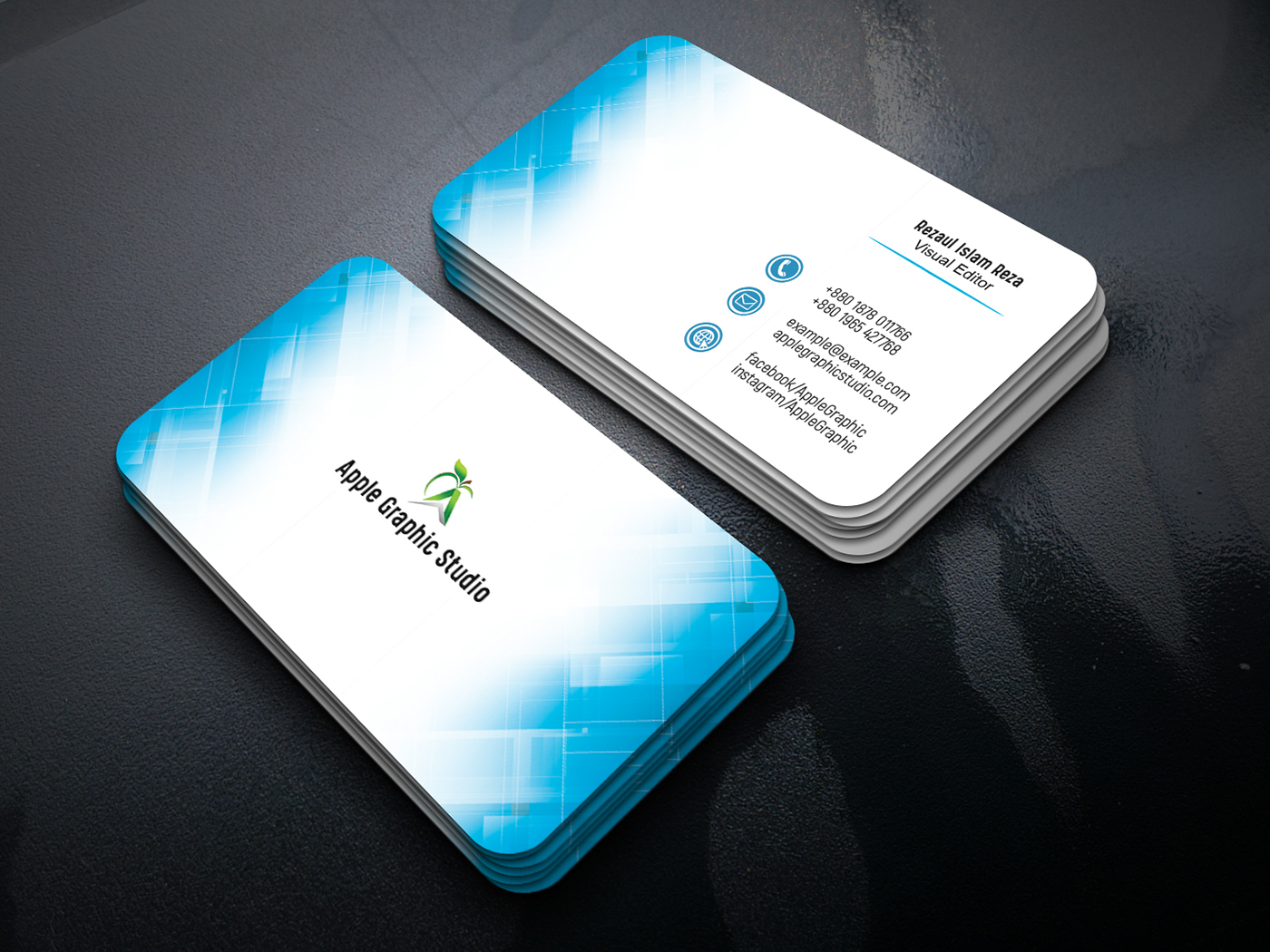 professional business card on behance