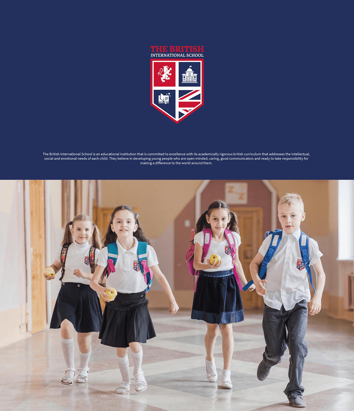 british British school egypt gems education identity International kids school School branding
