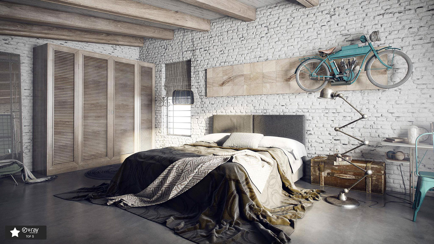 loft bedroom!