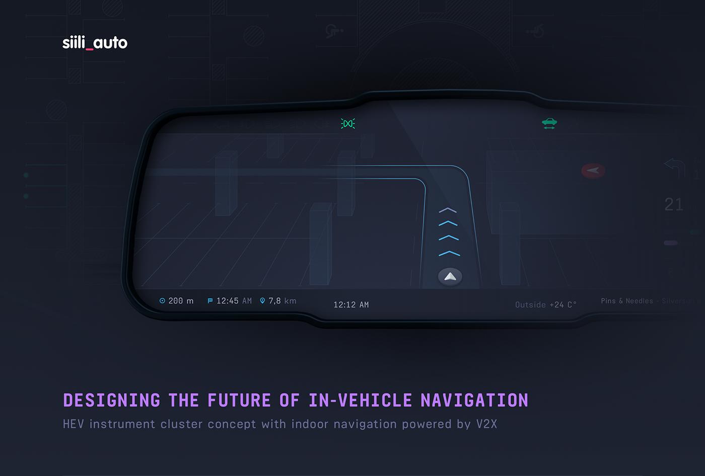 instrument cluster  siili auto siili Automotive design automotive   UI ux hmi