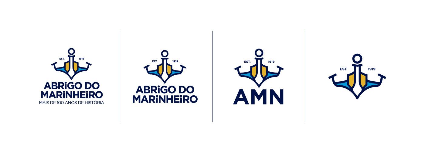 amn Logotipo branding  brand marinha logo Marinheiro abrigo do marinheiro agua navio