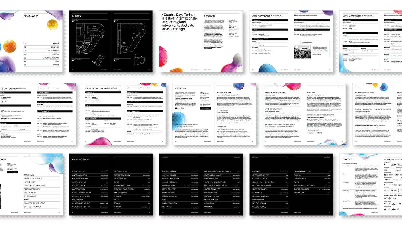 festival visual design motion design graphic design  GRAPHIC DAYS EXHIBIT DESIGN Exhibition  art direction  Turin motion