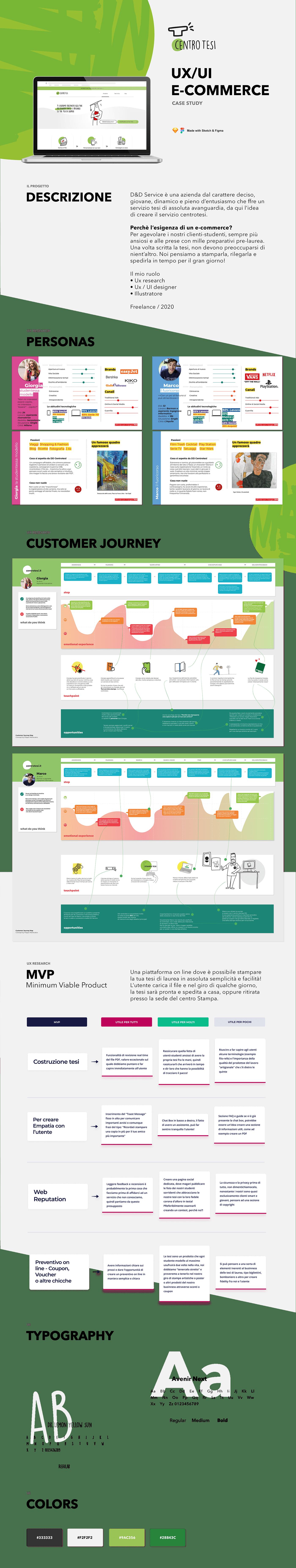Centro Tesi E COMMERCE Filippo Maniscalco roma UX Designer UX UI DESign