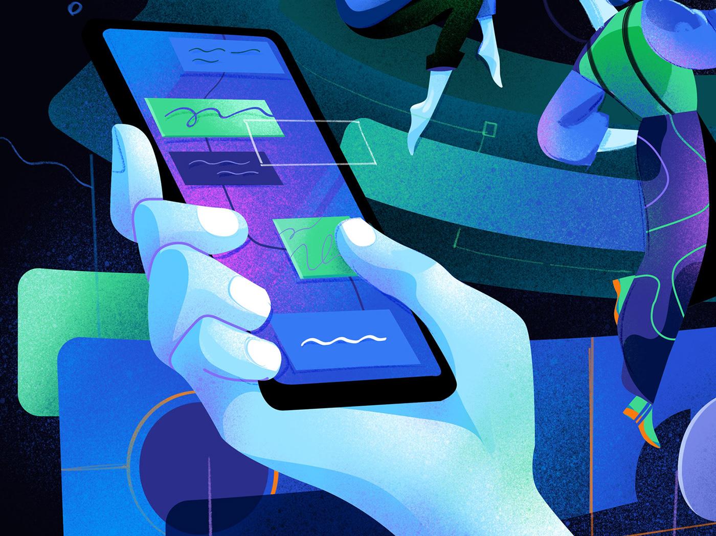 Digital Garden Smart Working Technology user interface