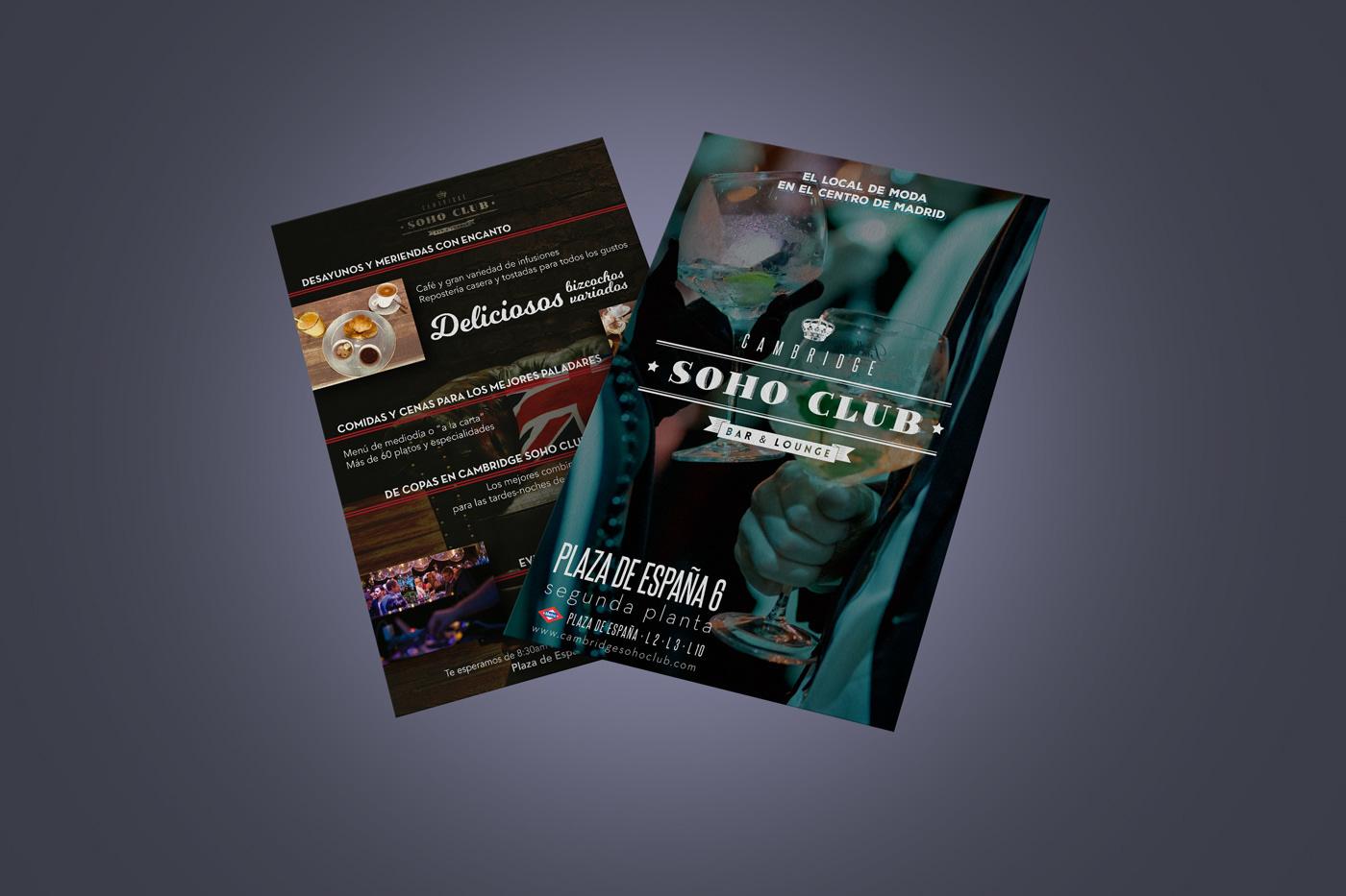 cartel club design flyer folleto graphic design  poster