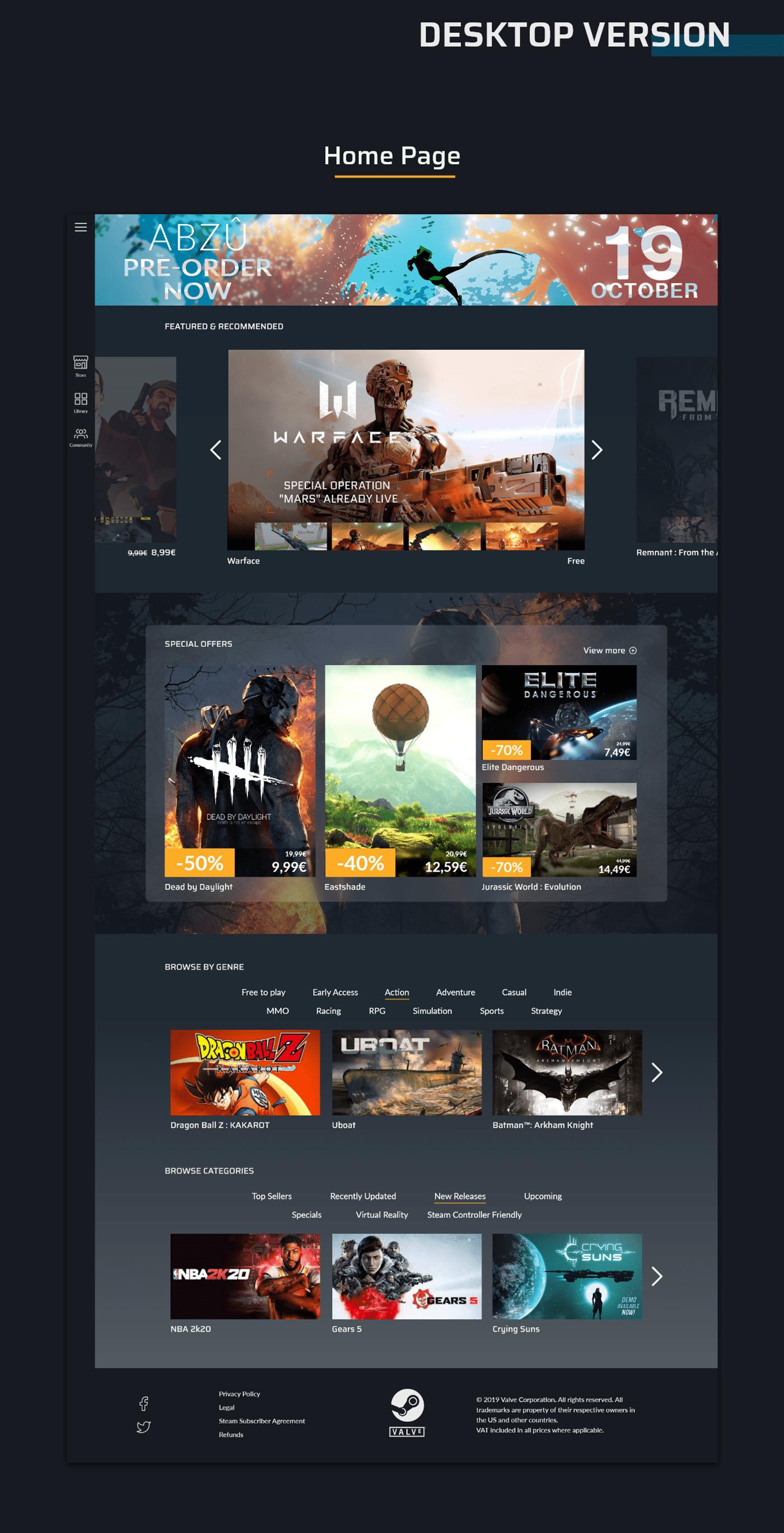 student project Steam Valve team redesign