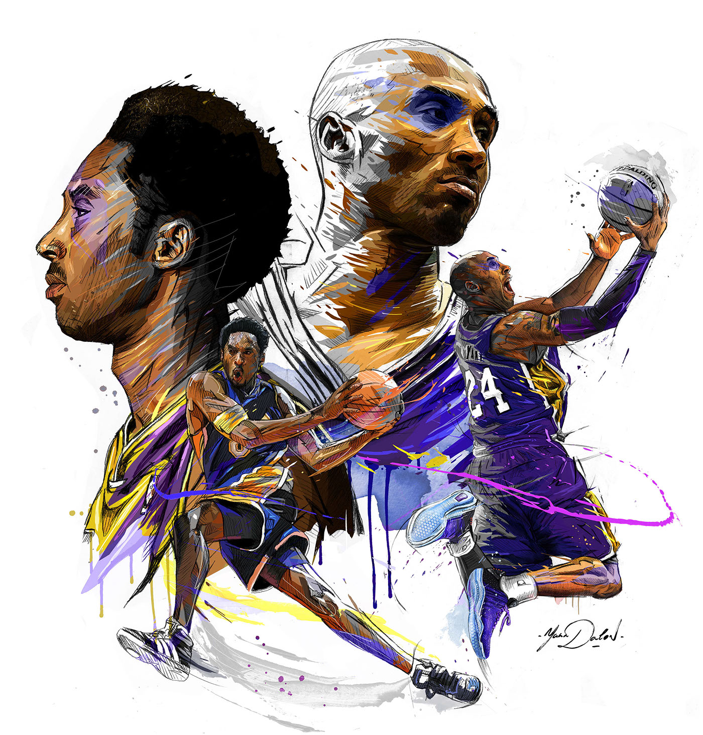 Image result for kobe bryant cartoon