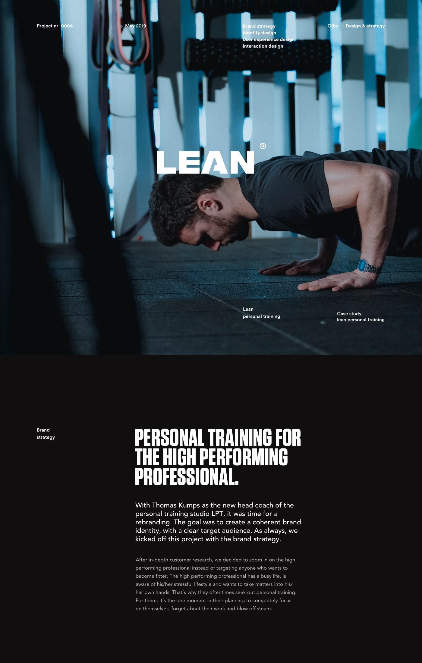 Web interaction design Website personal training sports branding  strategy UI/UX
