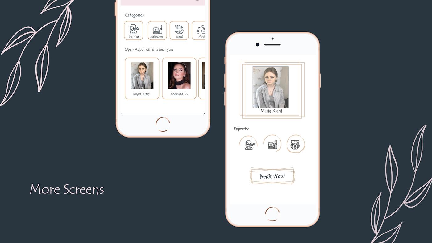 makeup app design