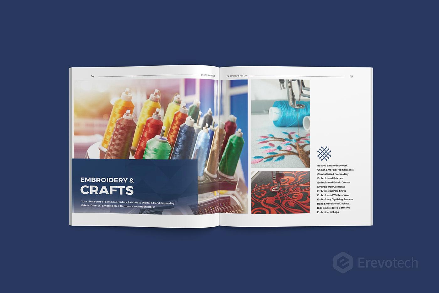 embroidery brochure design