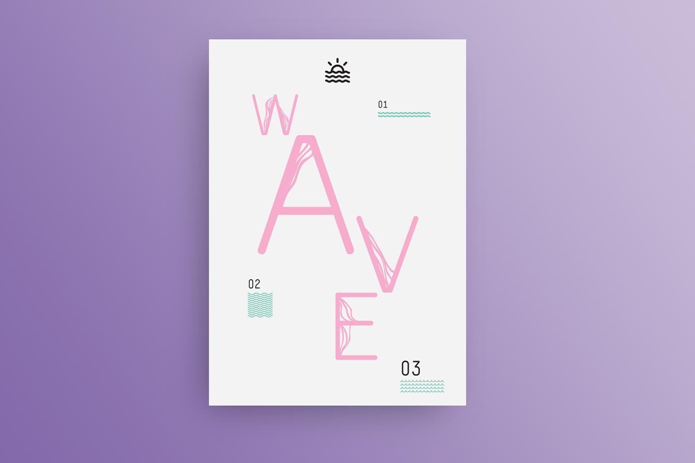 font font design Free font typography   free typography wave waves ILLUSTRATION