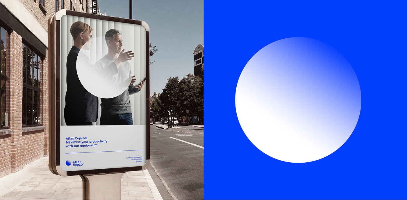 atlas copso blue branding  Compressors corporate rebranding world