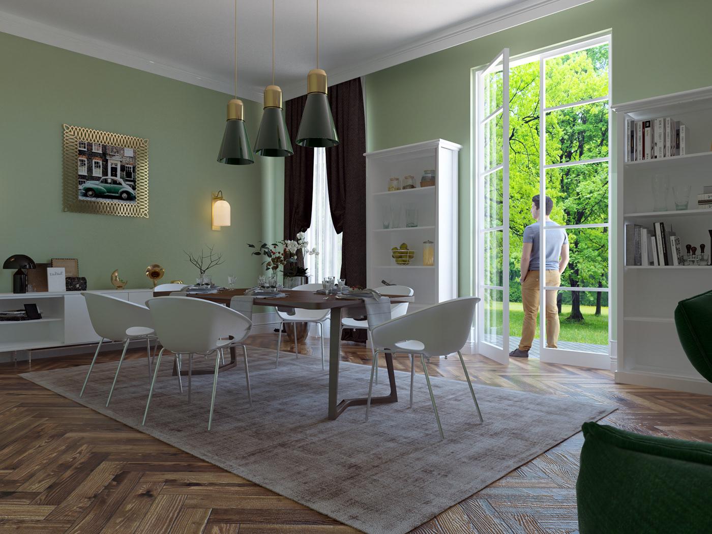 細緻的16款綠色牆面配色欣賞