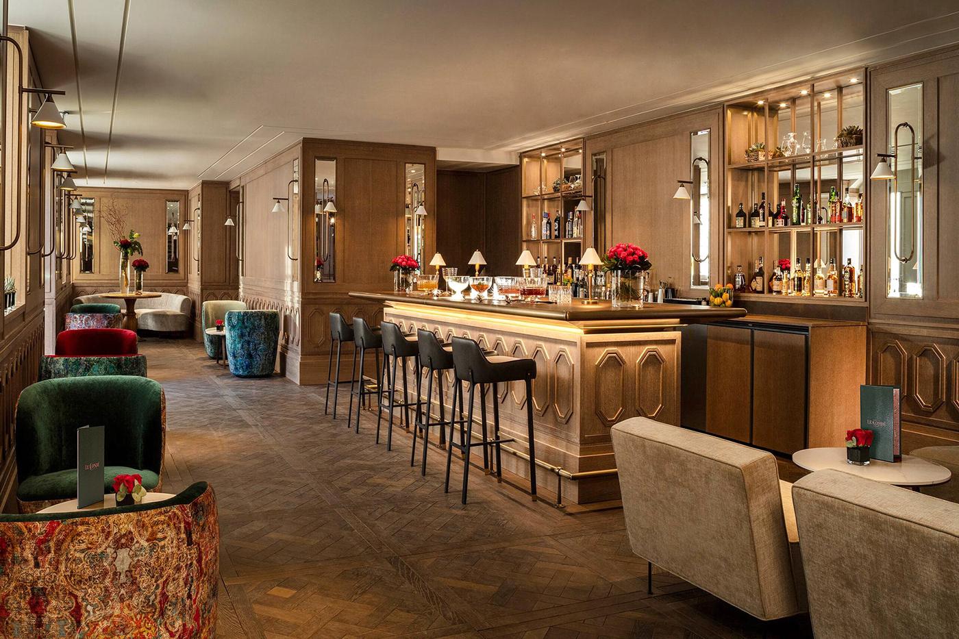 F&B hotel bar restaurant drink menu alcohol cocktail logo pink
