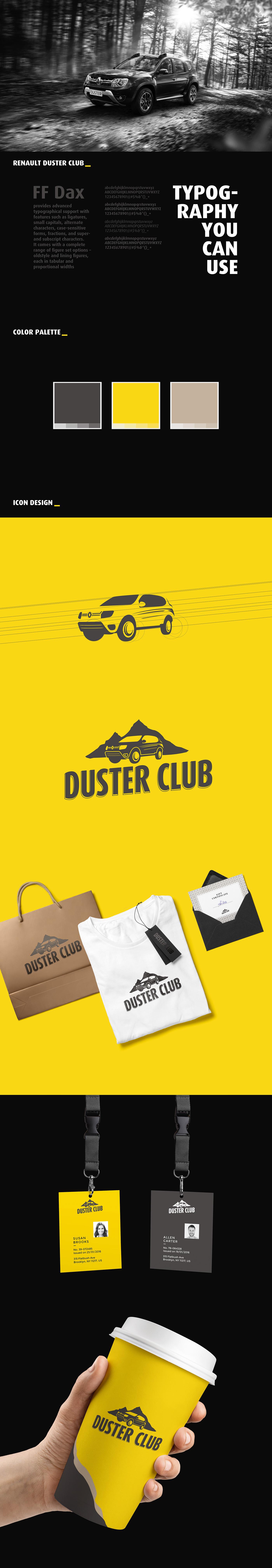 renault logo Duster club Icon car logodesign branding  leoburnett