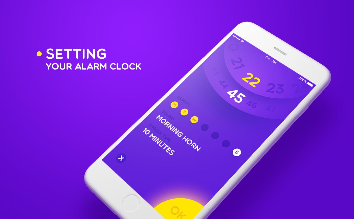 UI Inspiration: 09 Alarm Clock