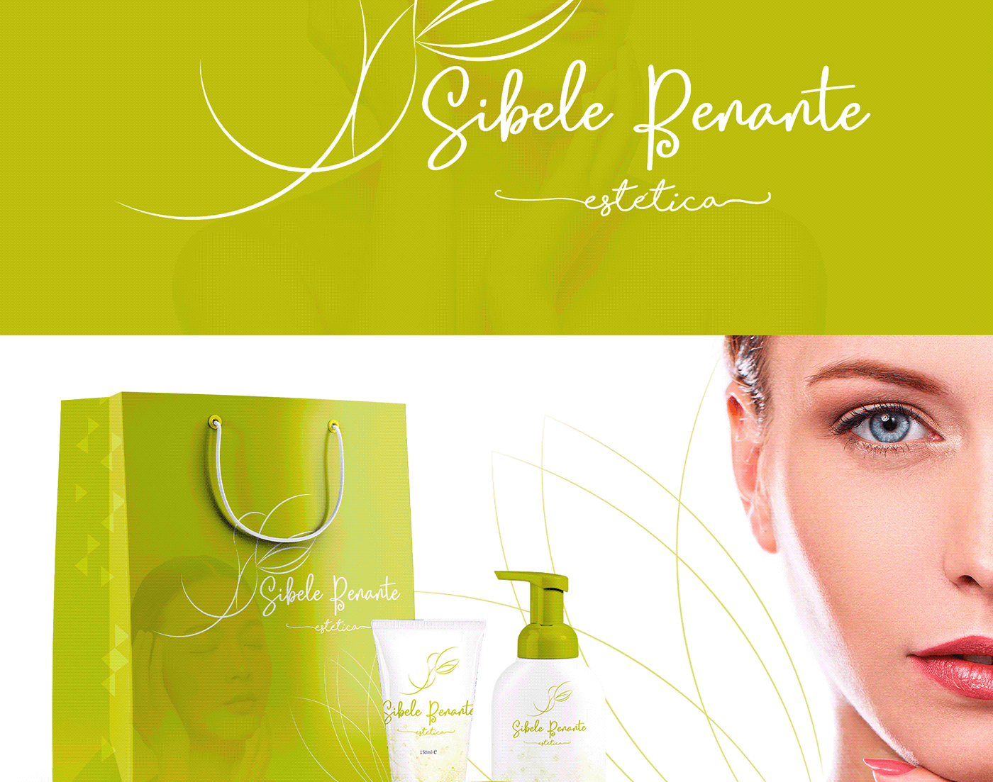 agência stork branding  estética estudio de beleza identidade visual logo Sibele Benante stork digital