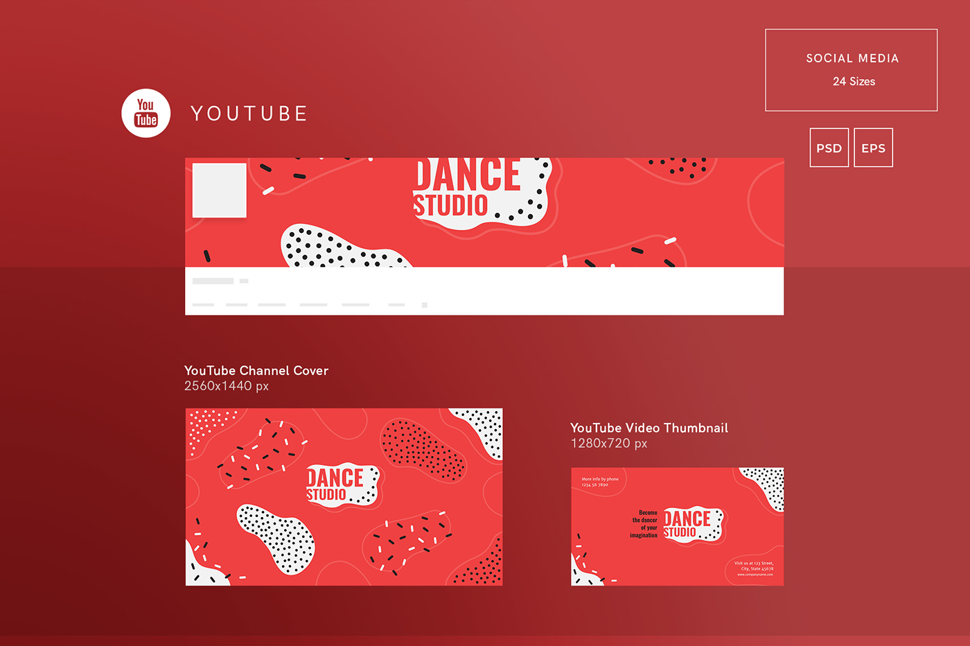 dance studio modern and creative templates suite on behance