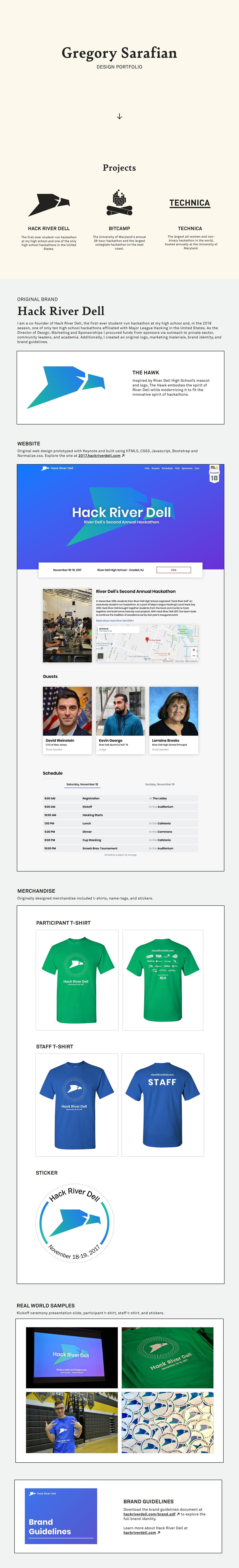 Sarafian Gregory Sarafian Greg Sarafian bitcamp technica hack river dell UI/UX apple portfolio design