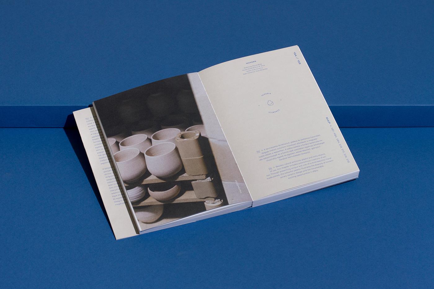 book book design editorial design  budapest ceramics  fashion design furniture design