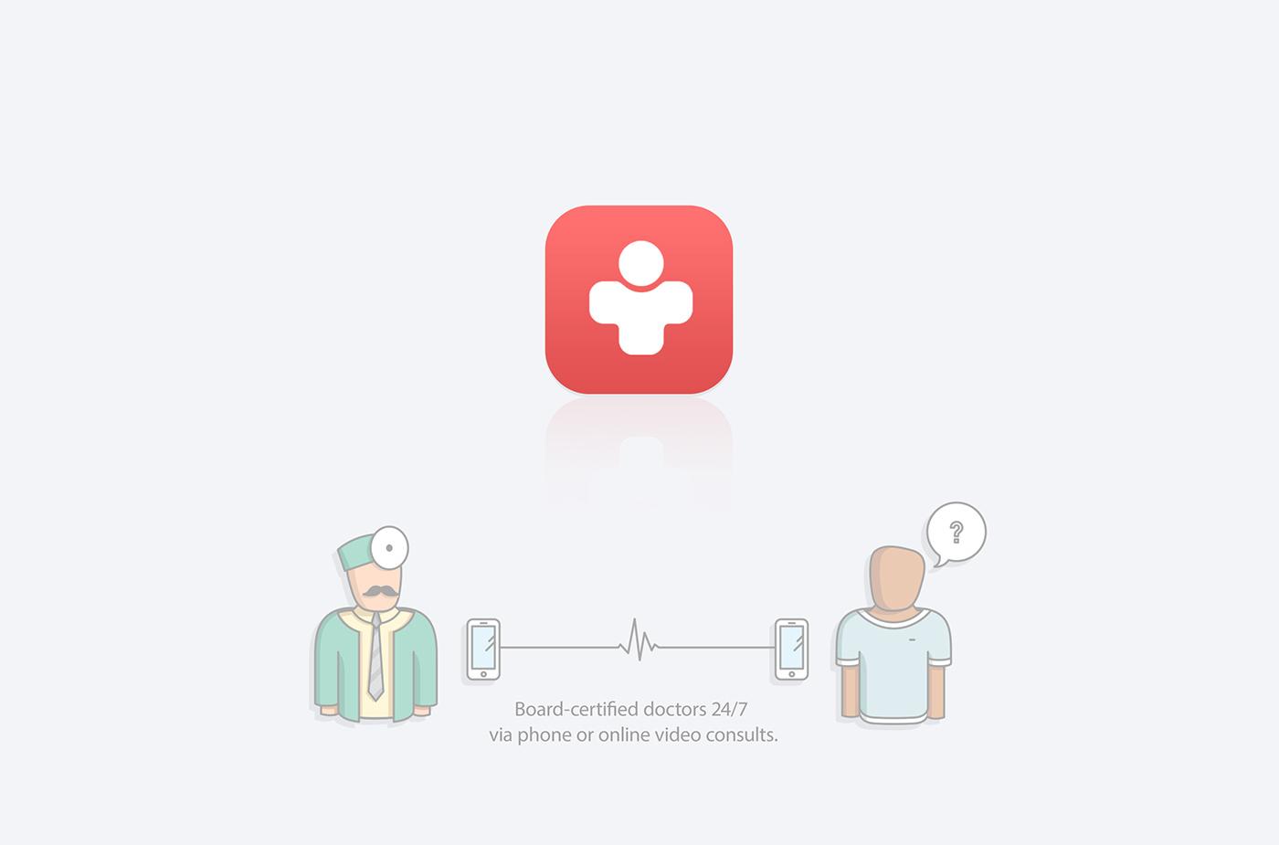 telemedical application doctors UI ux design medical medicine patients Medical app