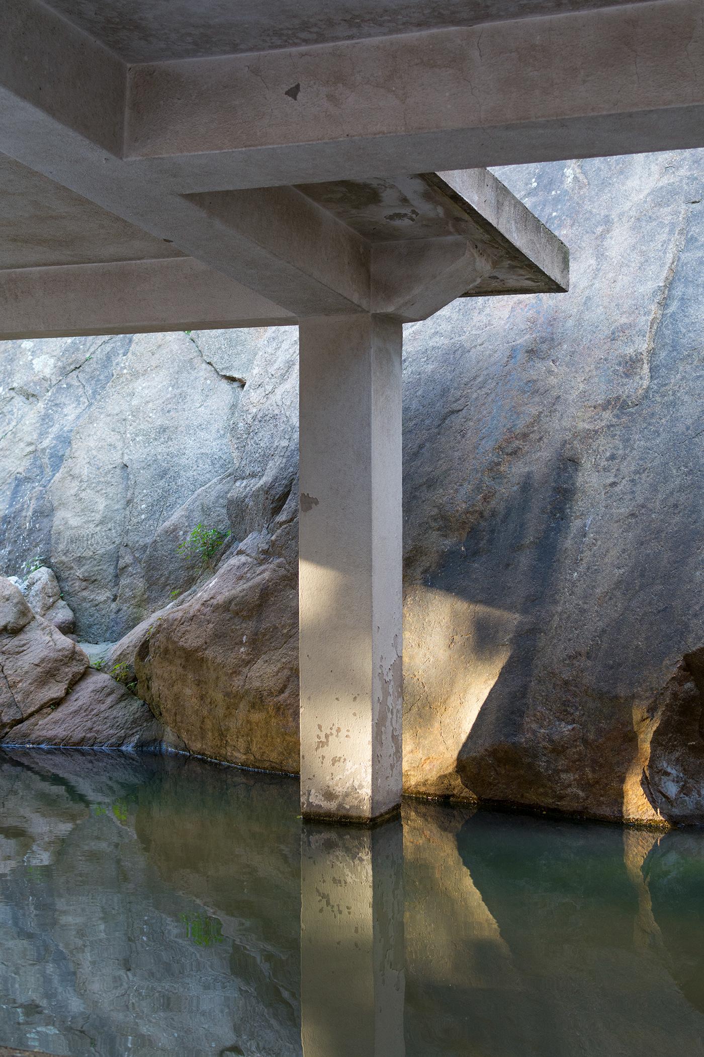 Image may contain: water, lake and rock