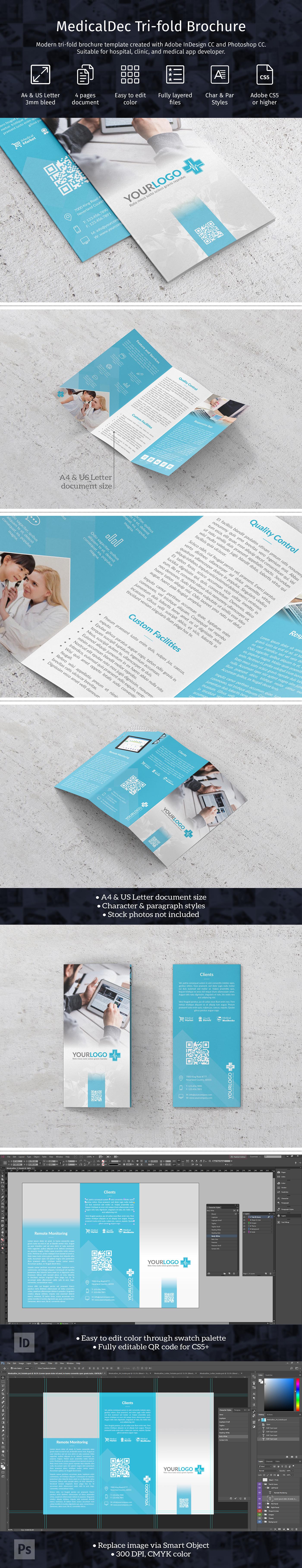 Medicaldec Trifold Brochure Template On Behance