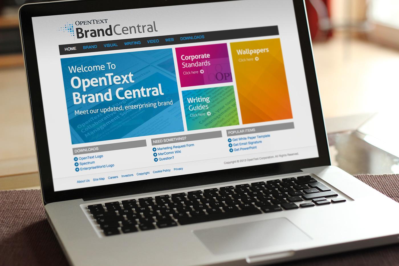 OpenText Brand Central on Behance