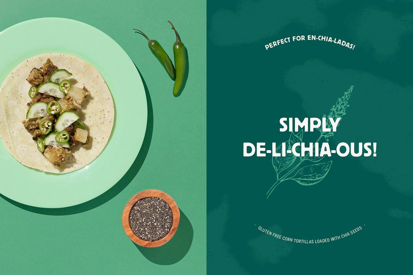 digital healthy ILLUSTRATION  Mexican natural organic Packaging superfood Tortilla Web