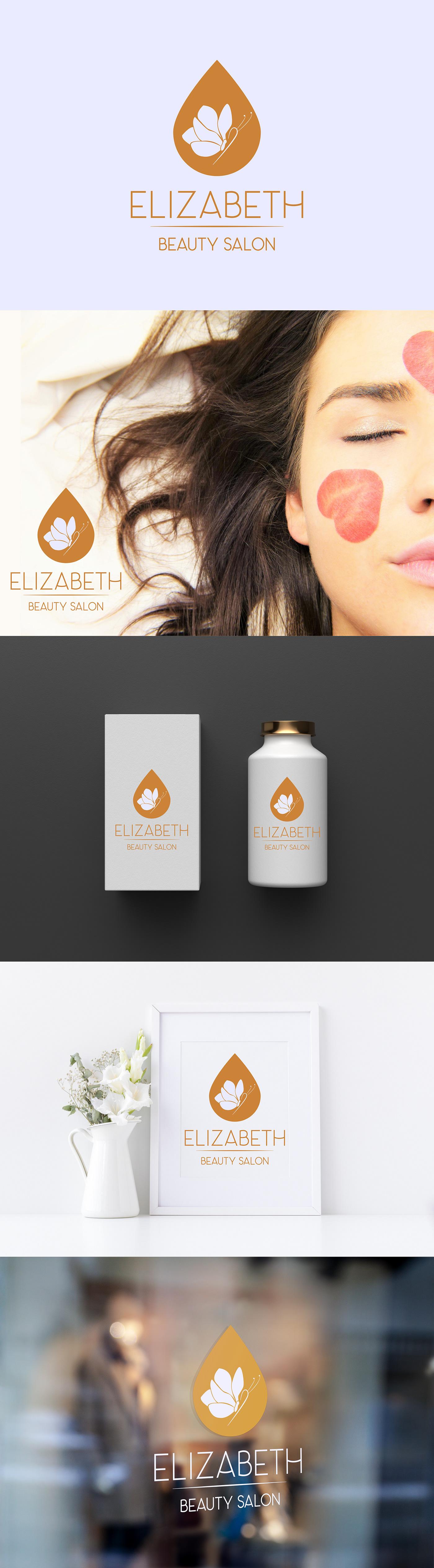 beauty salon branding  butterfly logo magnolia