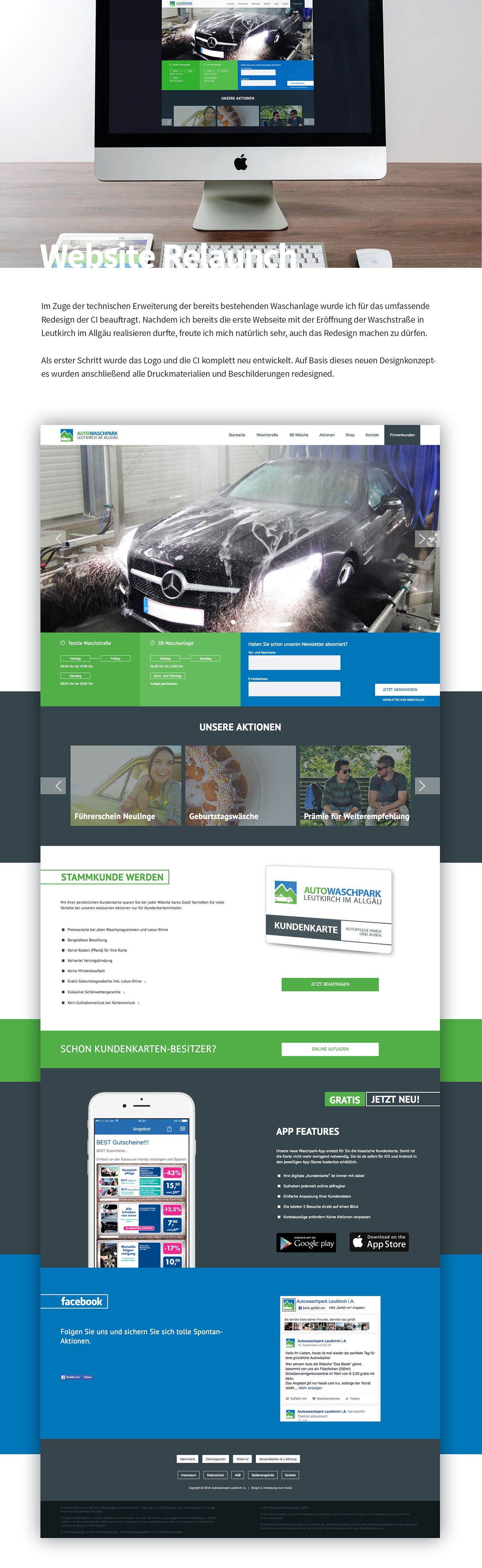 redesign relaunch Webdesign Screendesign joomla buck media Online shop Responsive