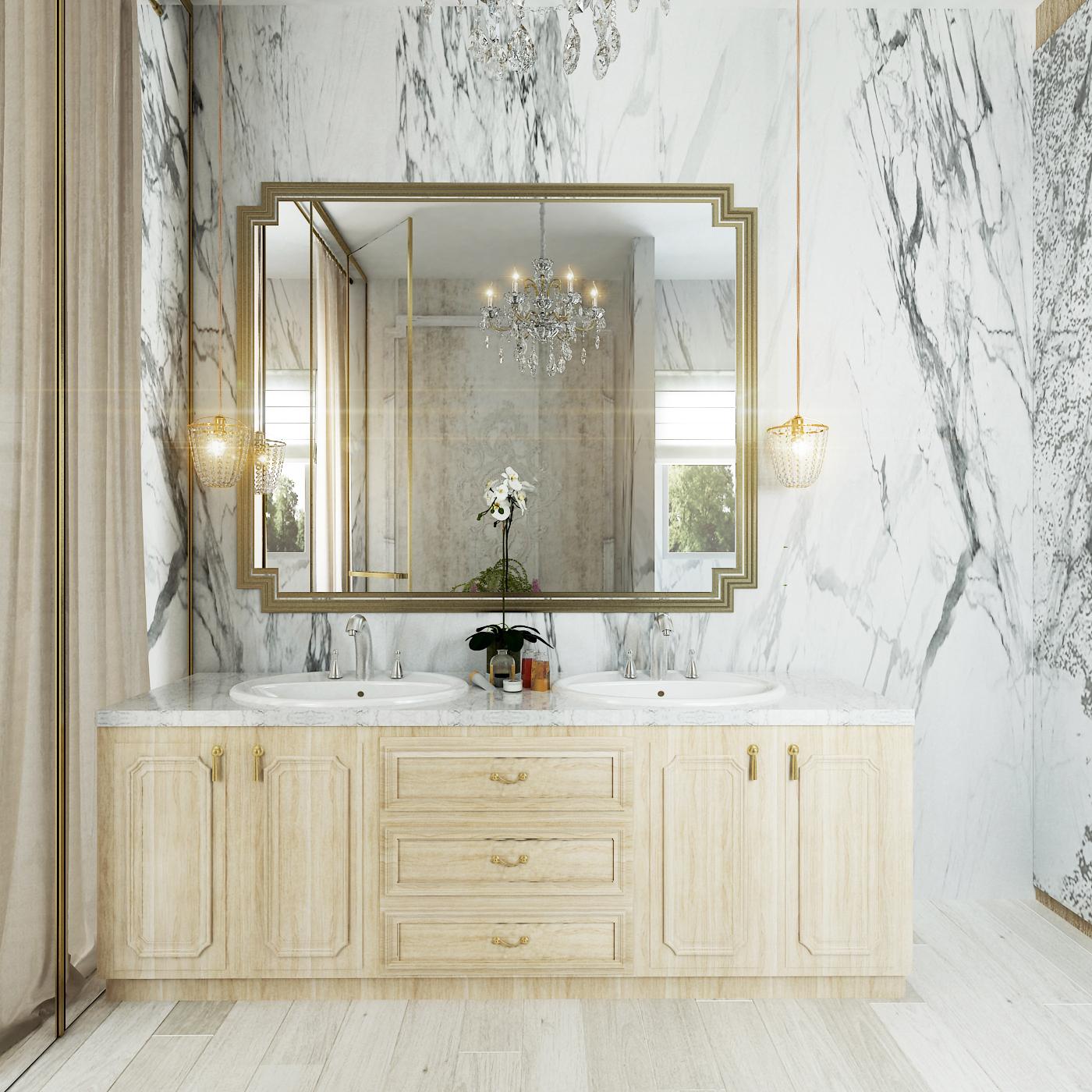 Simple Classic Master Bathroom on Behance