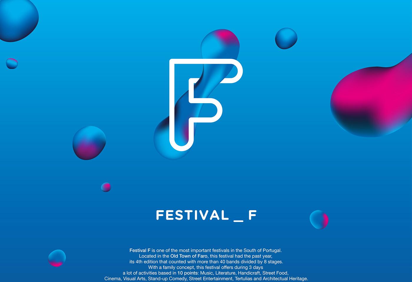 festival summer Festival F brand branding  Portugal Algarve faro
