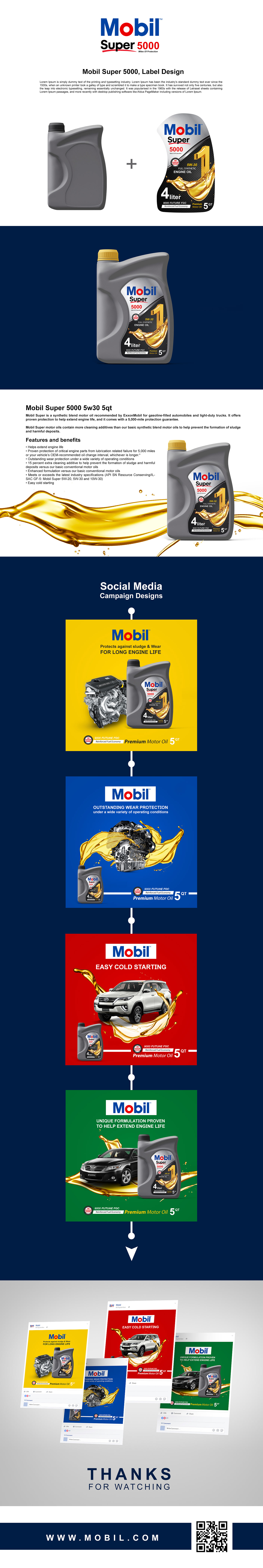social media mobil Engine oil ads campaign