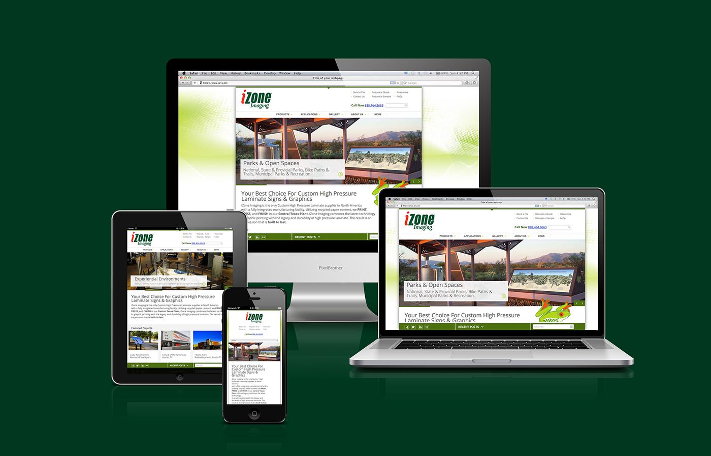 Responsive website design for Austin, Texas Sign Company