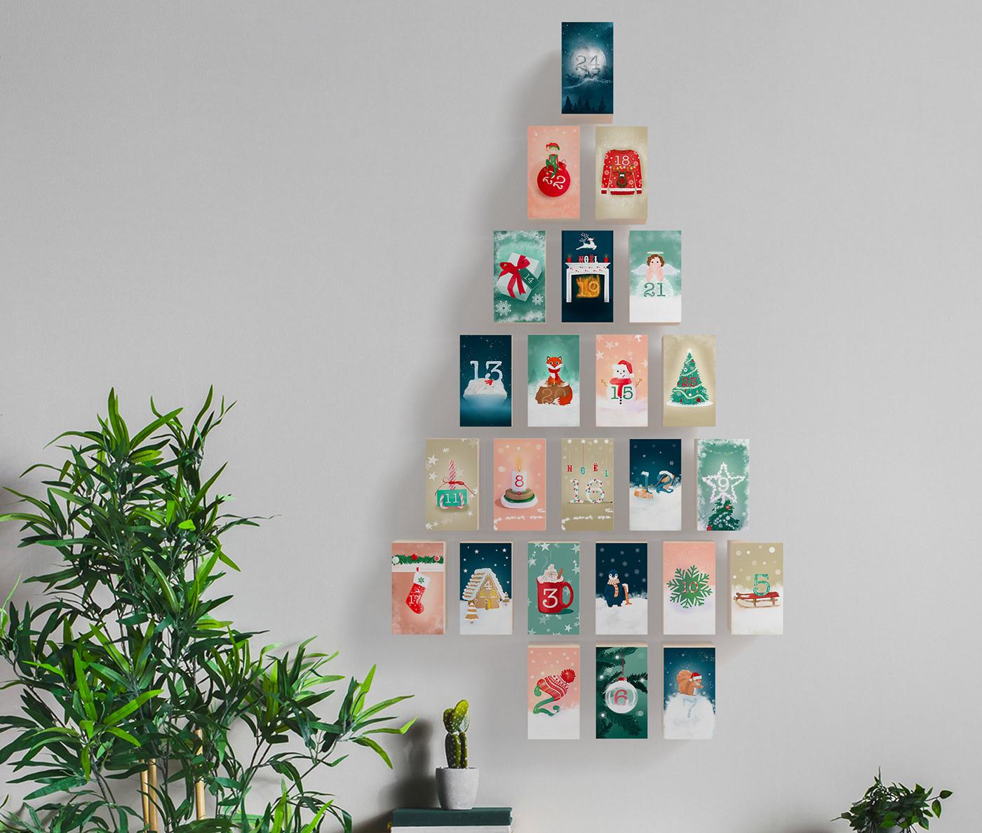 calendar calendrier Christmas ILLUSTRATION  noel