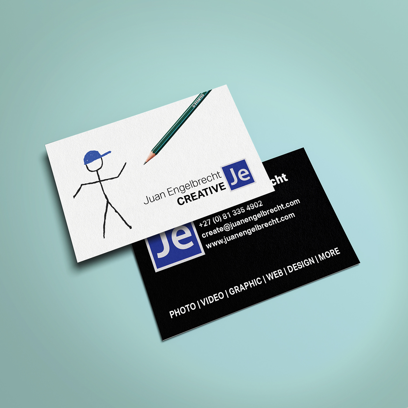 Juan engelbrecht creative business card design on behance thank you reheart Image collections