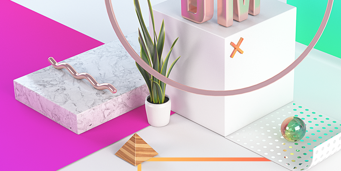Layout print design still life 3D typography   graphic gradient birthmark gold