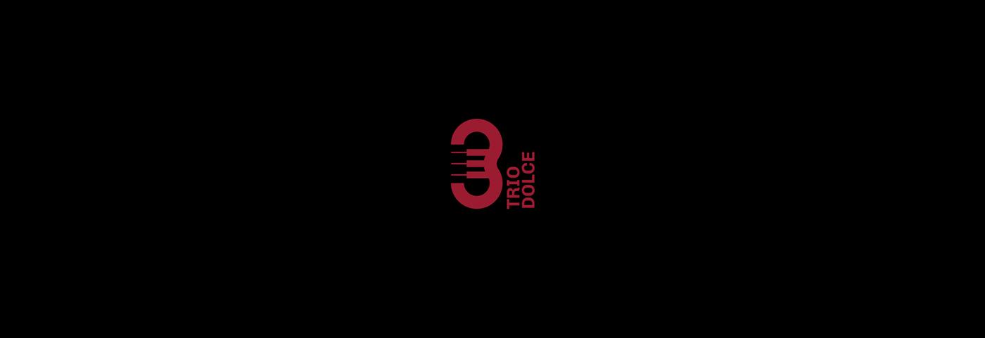 branding  elegant identity logo Logotype minmalist music negative space pure red