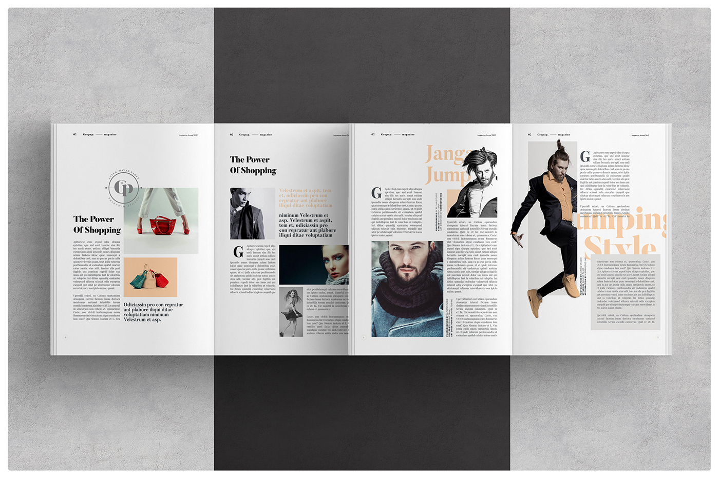 Magazine layout on behance for Designs magazine