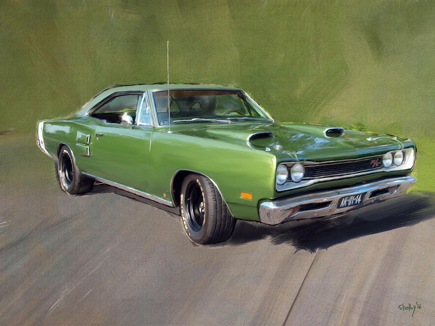 Classic Cars albert einstein Digital Paintings