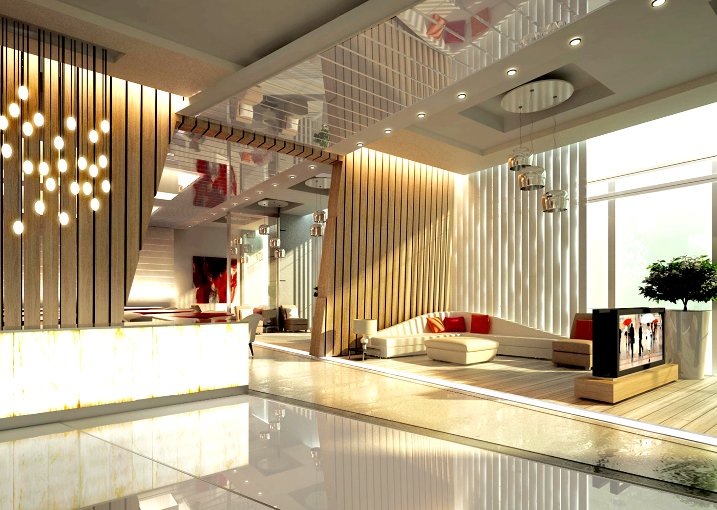 Alyal hotel lobby design on behance for The designers hotel