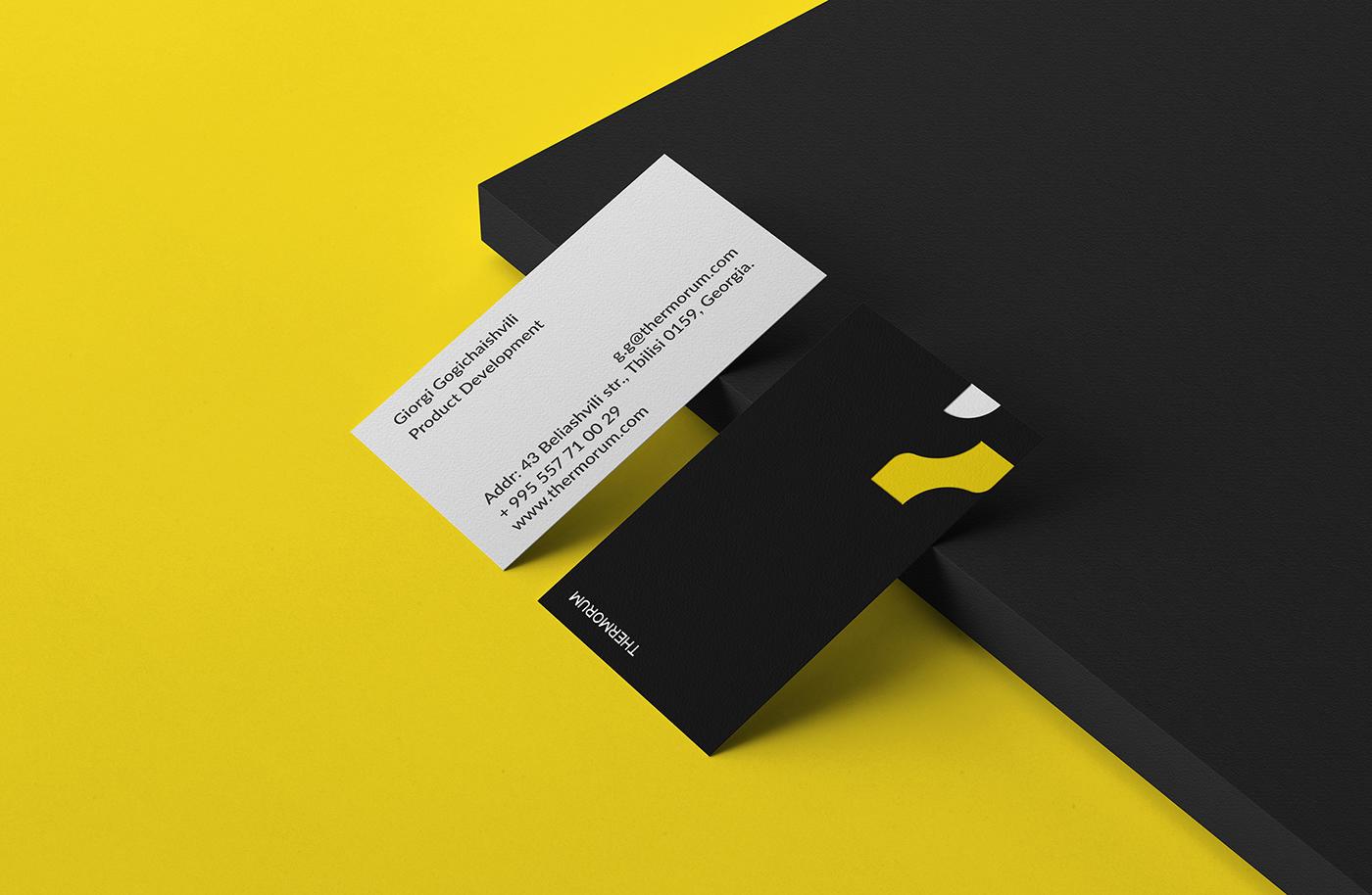 branding  graphic design  identity logo brand identity corporate style thermorum balance yellow black