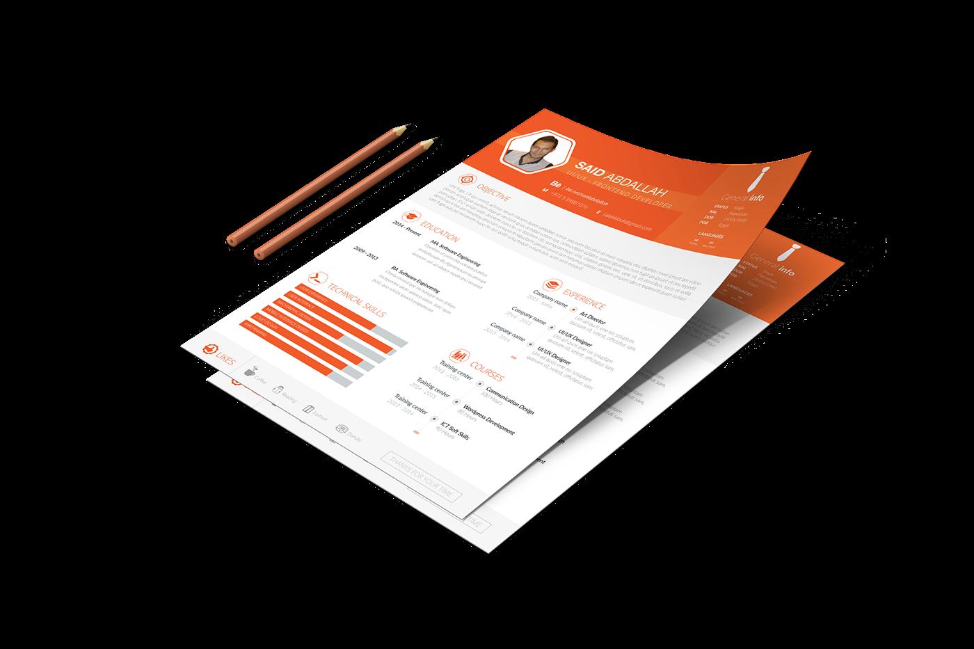 free Resume CV template