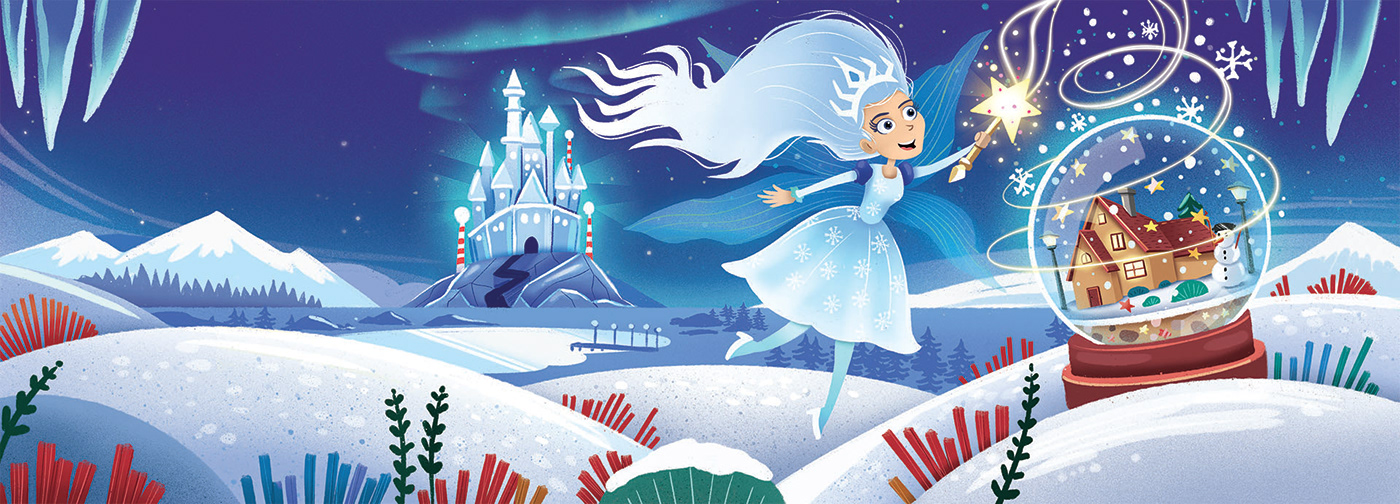 illustration of a snow queen