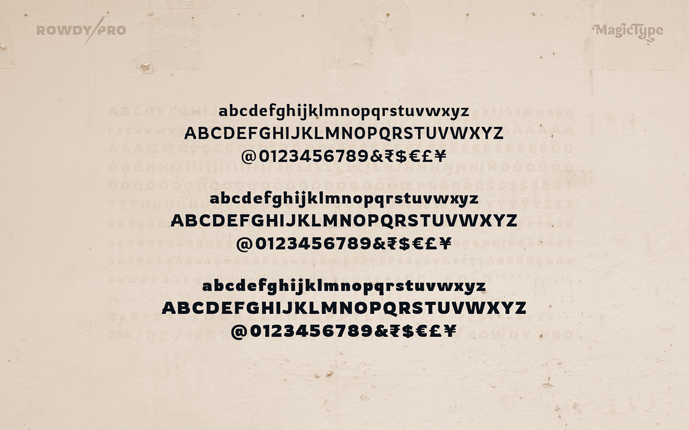 rowdy Typeface Display font Latin India rough grunge Bollywood action