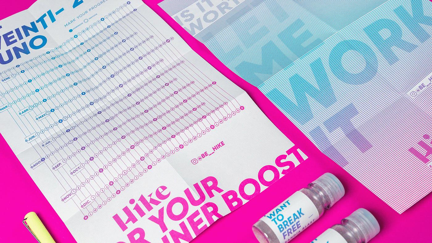 boost branding  DUNK energy gradient Hike logo Preworkout supplements women