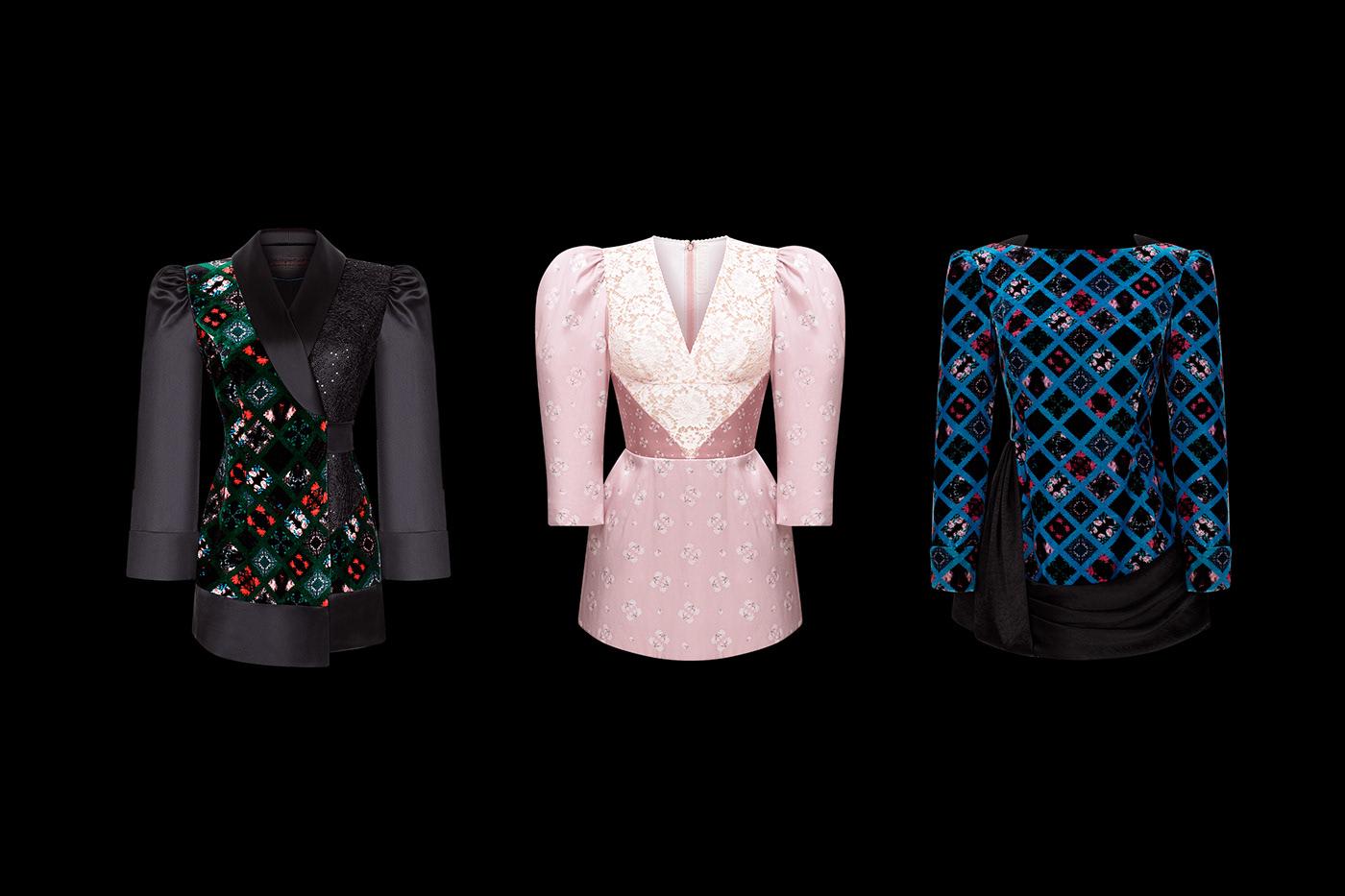 couture Fashion  graphic design  Invitation ulyana sergeenko кутюр мода пригласительные letterpress paris fashion week